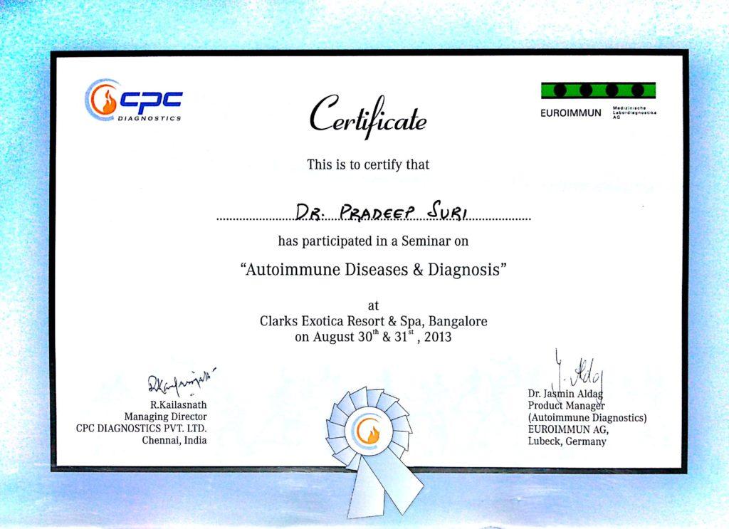 CPC (Certificate – Autoimmune Diseases & Diagnosis)