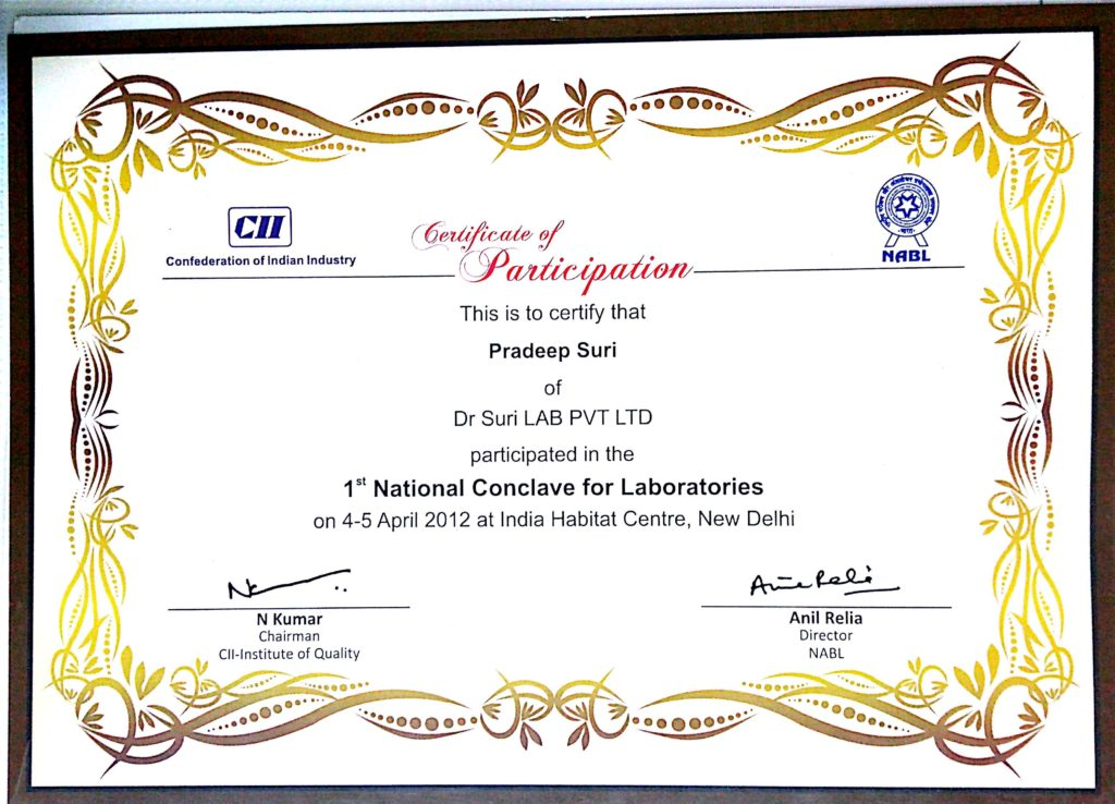 1st National Conclave for Laboratories