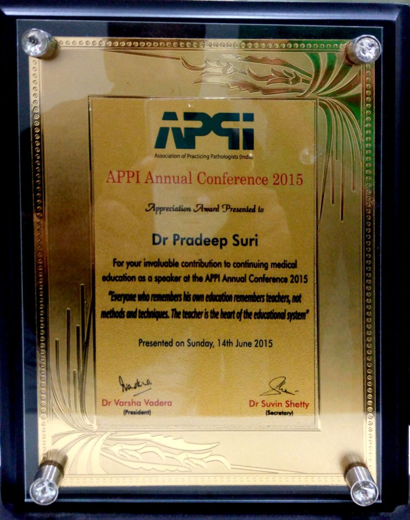 APPI Annual Conference 2015 (Appreciation Award)
